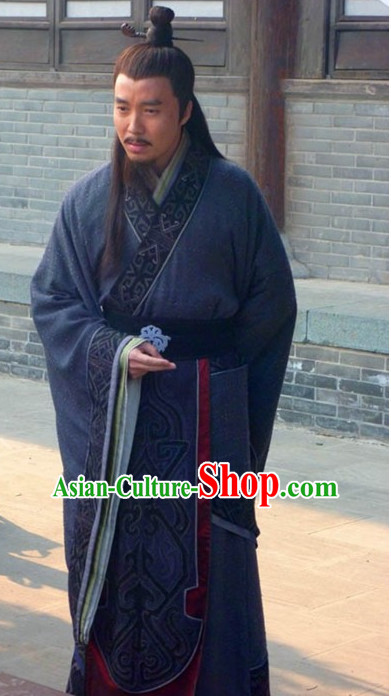 Custom Made Traditional Chinese Style TV Drama Film Male Long Robe Complete Set