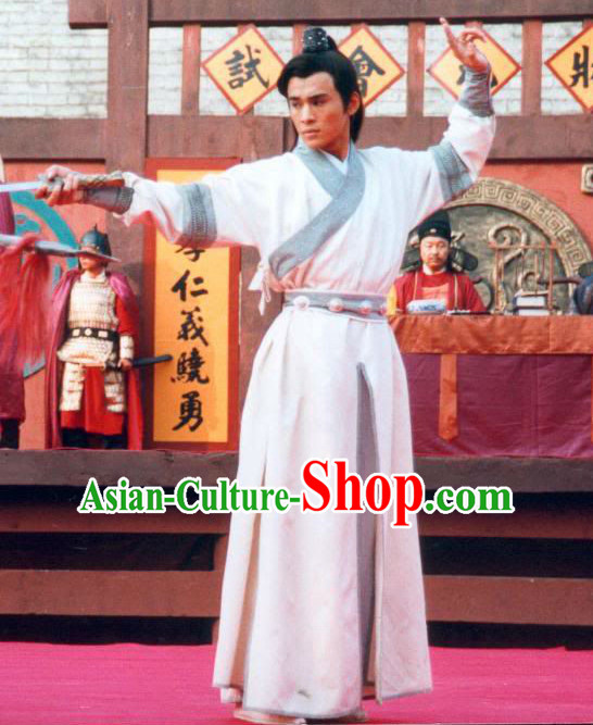 Traditional Chinese Ancient Swordman Costumes Complete Set for Men