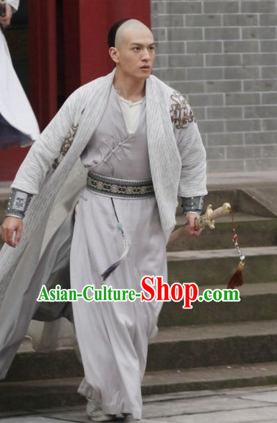 Traditional Chinese Ancient Samural Costume Complete Set for Men