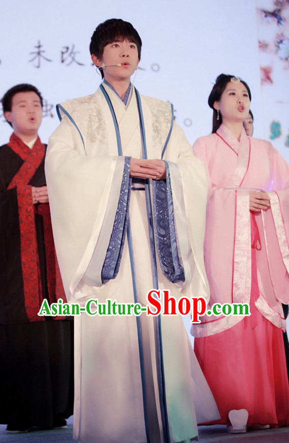 Traditional Chinese Ancient Hanfu Suit Complete Set for Men