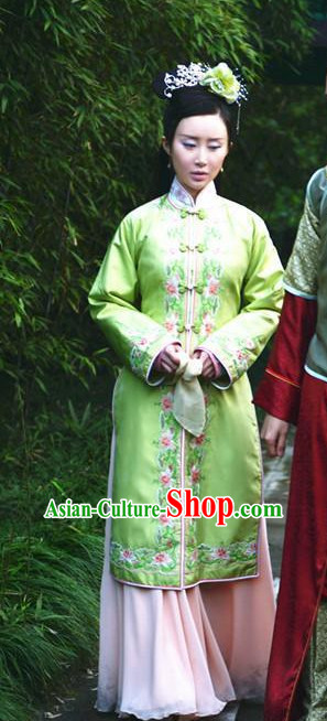 Traditional Chinese Ancient Ming Dynasty Lady Dress and Hairpieces Complete Set for Women
