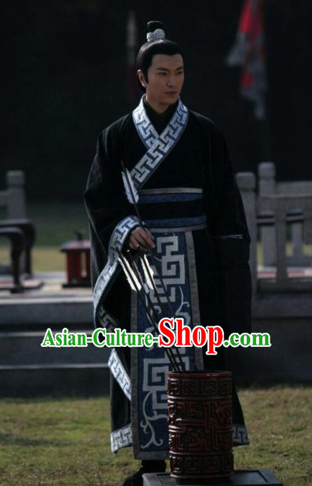 Traditional Chinese Ancient Prince Hanfu Suits Complete Set for Men