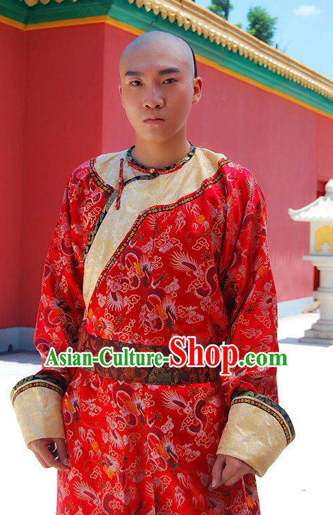 Traditional Chinese Ancient Prince Hanfu Long Robe Complete Set for Men