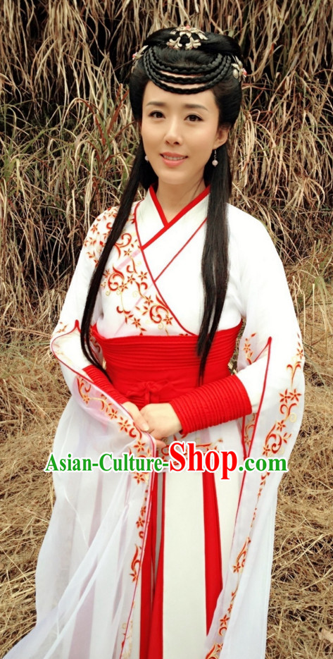 Traditional Chinese Ancient Lady Garment and Hairpieces Complete Set for Women
