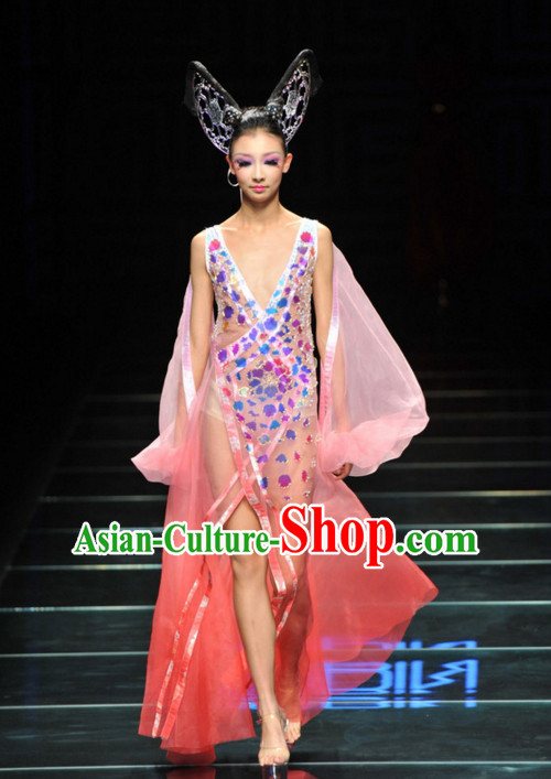 Asian Chinese Fashion Custom Tailored Custom Make Made to Order Chinese Style Fantasy Custom Made Professional Stage Performance Headwear