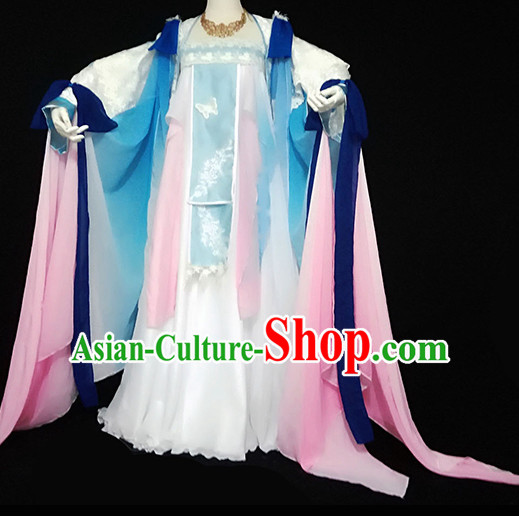 Imperial Royal Ancient Chinese Queen Clothing Complete Set for Women