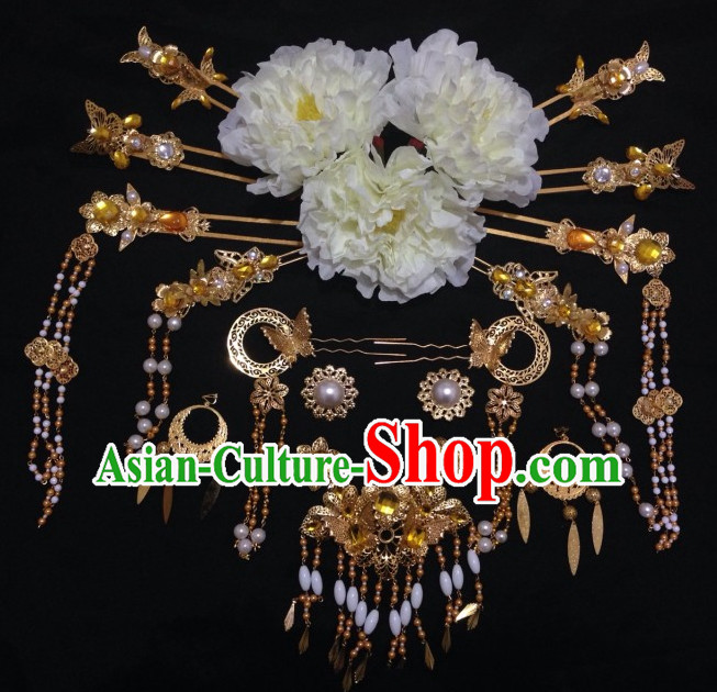 Ancient Chinese Imperial Royal Princess Hair Jewelry Headdress Hairpieces Hair Accessories