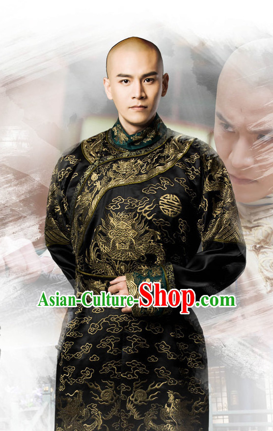 Ancient Chinese Imperial Prince Clothes Complete Set for Men