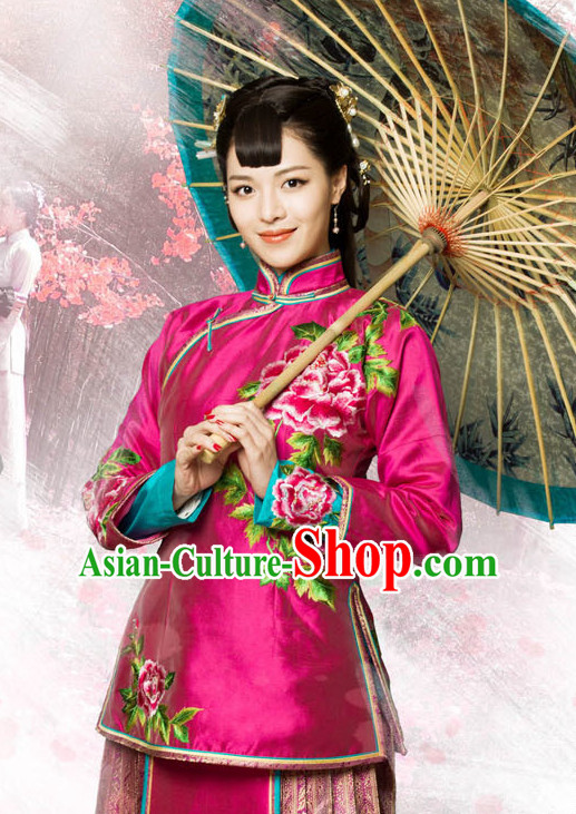 Traditional Chinese Style Mandarin Wedding Dresses Complete Set for Brides