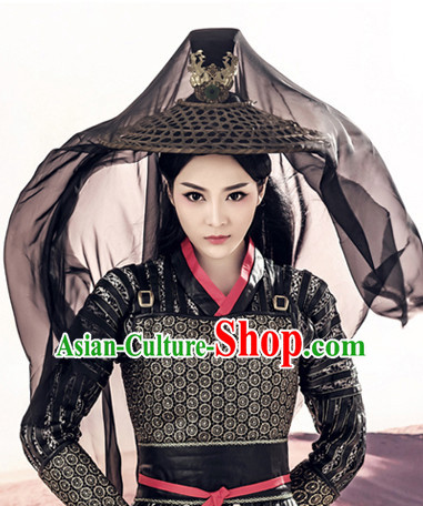 Ancient Chinese Traditional Bamboo Hat for Women or Men