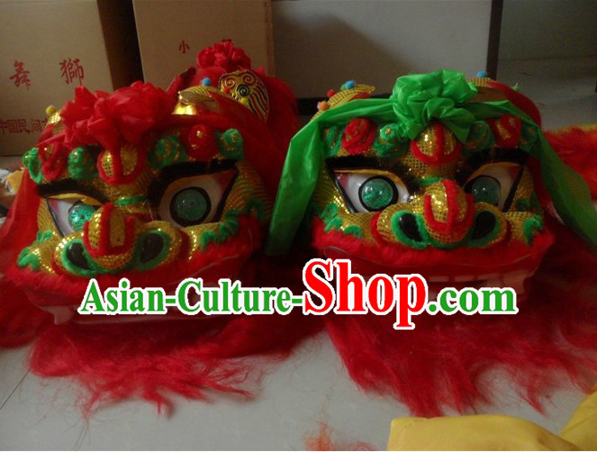 Chinese Traditional Northern Lion Dancing Head