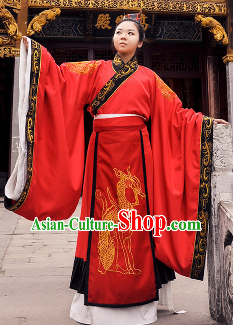 Ancient Chinese Clothing Dress Garment and Hair Accessories Complete Set for Men