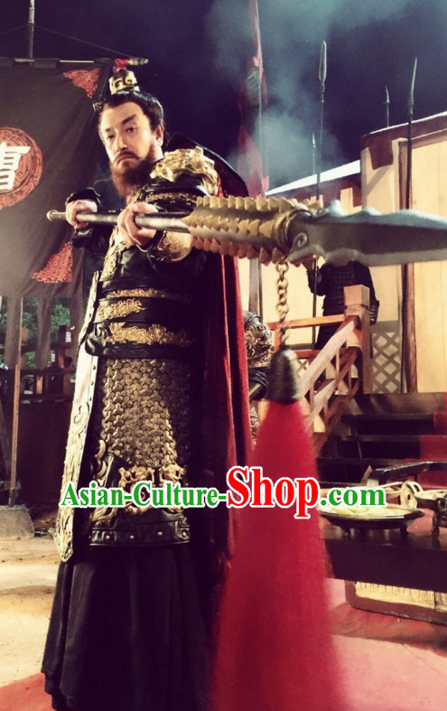 Ancient Chinese Superhero General Fighter Body Armor Costumes Garments Complete Set for Men