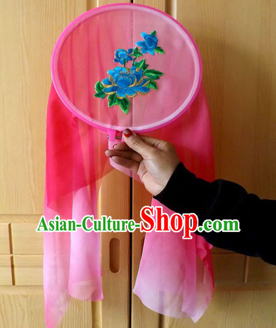 Ancient Chinese Style Long Ribbon Dance Fan Dancing Fans