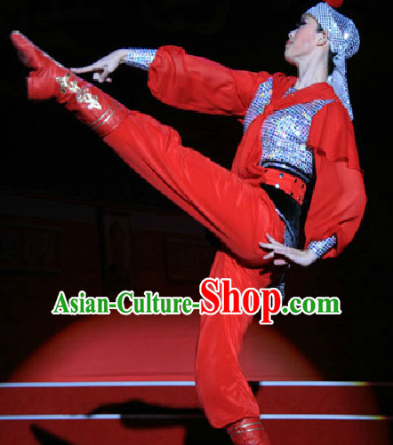 Chinese Traditional Mongolian Dancing Outfits Dancewear Costumes Dancer Costumes Girls Dance Costumes Chinese Dance Clothes Traditional Chinese Clothes Complete Set for Women
