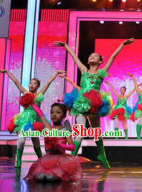Chinese Traditional Big Events Enetertainment Dance Dress Dancewear Costumes Dancer Costumes Dance Costumes Chinese Dance Clothes Traditional Chinese Clothes Complete Set for Kids