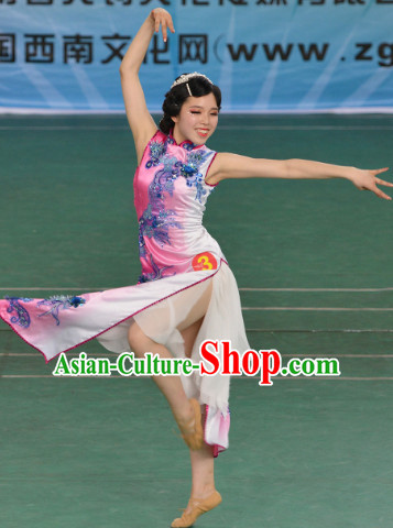 Chinese Classical Dancing Dancewear Costumes Dancer Costumes Dance Costumes Chinese Dance Clothes Traditional Chinese Clothes Complete Set for Kids