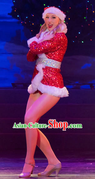 Chinese Stage Christmas Dancing Dancewear Costumes Dancer Costumes Dance Costumes Chinese Dance Clothes Traditional Chinese Clothes Complete Set