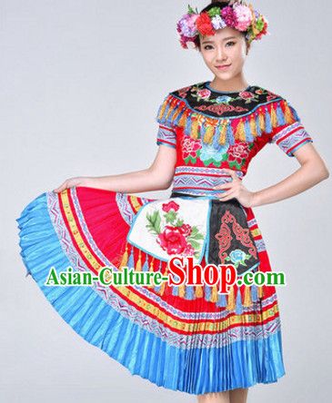 Chinese Stage Ethnic Dancing Dancewear Costumes Dancer Costumes Dance Costumes Chinese Dance Clothes Traditional Chinese Clothes Complete Set for Women Children