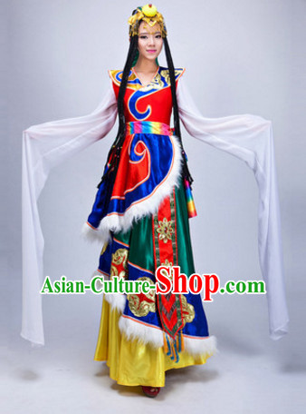 Chinese Stage Ethnic Dancewear Costumes Dancer Costumes Dance Costumes Chinese Dance Clothes Traditional Chinese Clothes Complete Set for Women Children