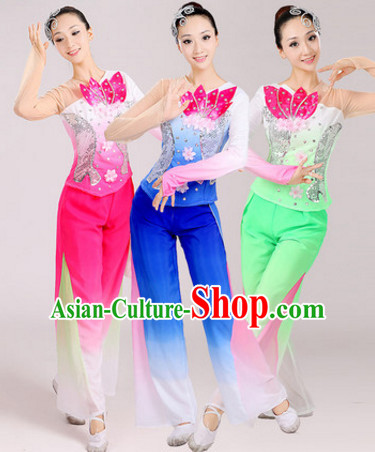Chinese Traditional Stage Folk Dance Dancewear Costumes Dancer Costumes Dance Costumes Clothes and Headdress Complete Set for Women