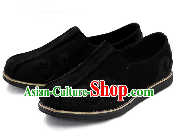 Top Black Chinese Traditional Tai Chi Shoes Kung Fu Shoes Martial Arts Shoes