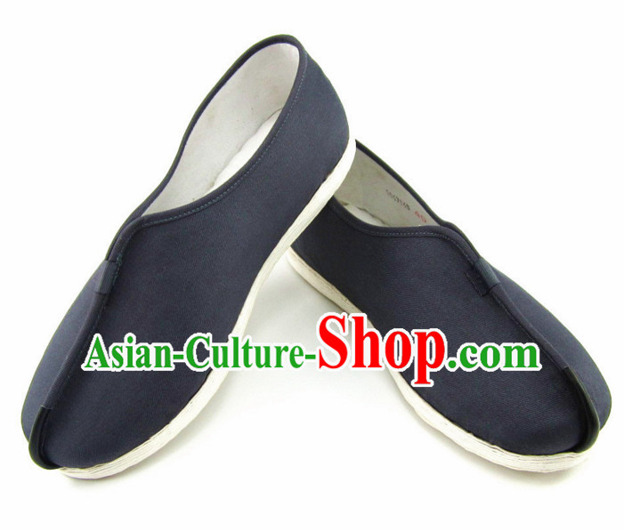 Top Black Chinese Traditional Tai Chi Shoes Kung Fu Shoes Martial Arts Shaolin Monk Shoes for Men or Women