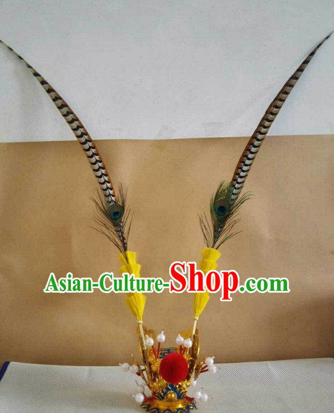 Chinese Traditional Opera Sun Wukong Headwear Hat for Men