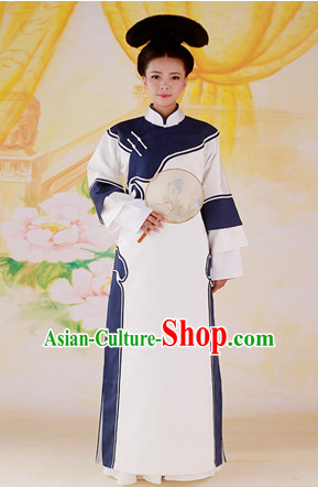 Chinese Imperial Palce Manchu Qipao Cheongsam Lady Garment Complete Set for Women Girls