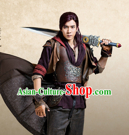 Chinese Ancient Superhero Body Armor Costumes Complete Set for Men
