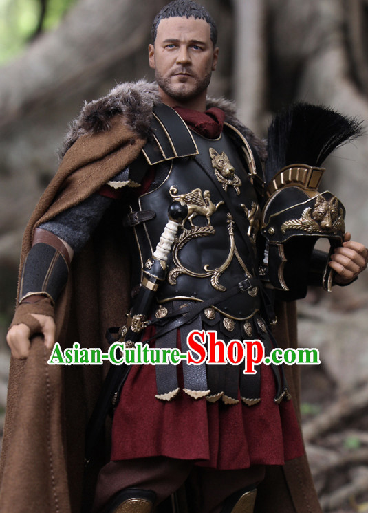 Ancient Superhero Body Armor Costumes Complete Set for Men