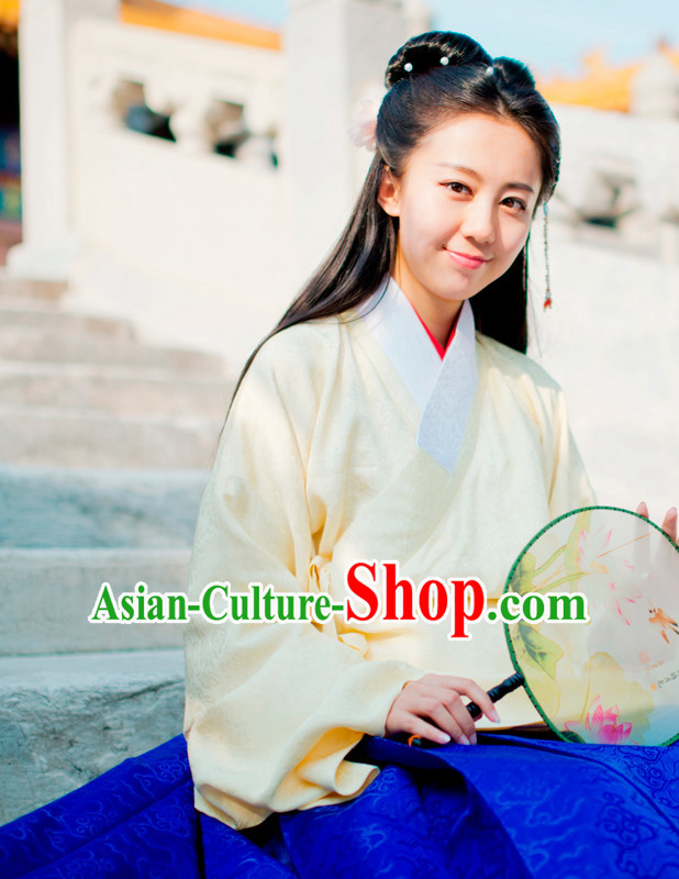 Top Chinese Ming Dynasty Female Hanfu Clothing Chinese Hanfu Costume Hanfu Dress Ancient Chinese Costumes and Hat Complete Set for Women Girls Children