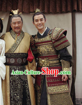 Chinese Ancient Style Emperor Costumes Complete Set for Men