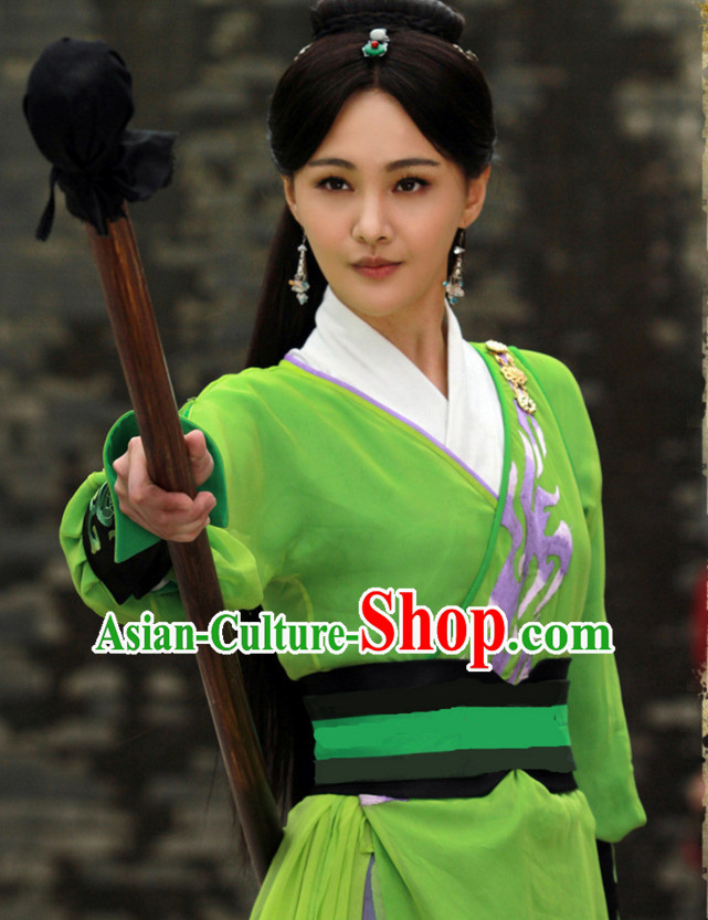 Chinese Ancient Style Superheroine Costumes Complete Set for Women