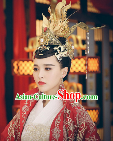 Ancient Chinese Style Imperial Palace Empress Queen Empress Hairpieces Hair Jewelry Set