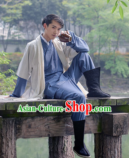 Ancient Chinese Male Hanfu Dresses Complete Set for Men
