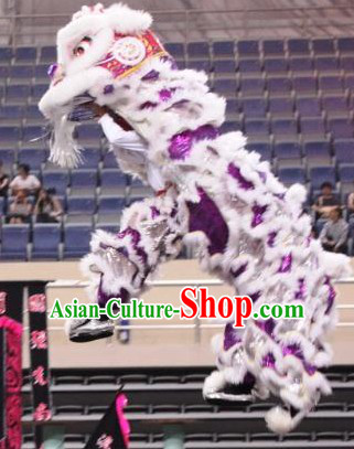 Big Opening Ceremony 100_ Natural Long Wool Lion Dance Equipments Complete Set
