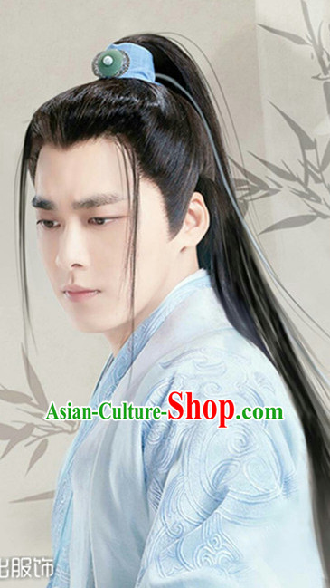Ancient Chinese Style Male Hanfu Dresses and Coronet Complete Set for Men