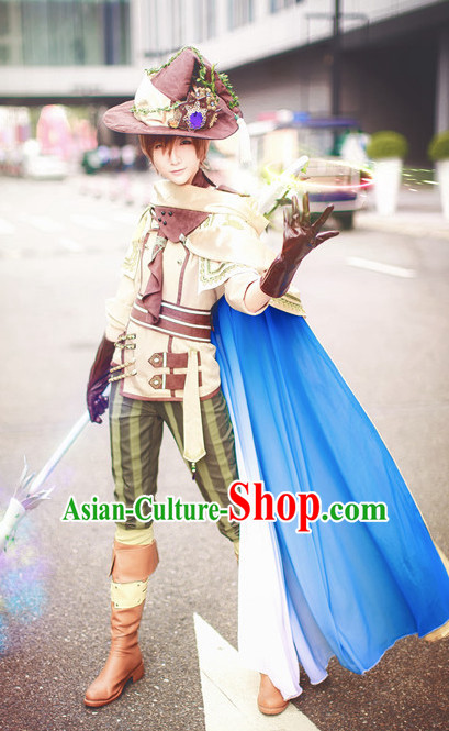 Made to Order Prince Cosplay Costumes and Headdress Complete Set for Women or Men