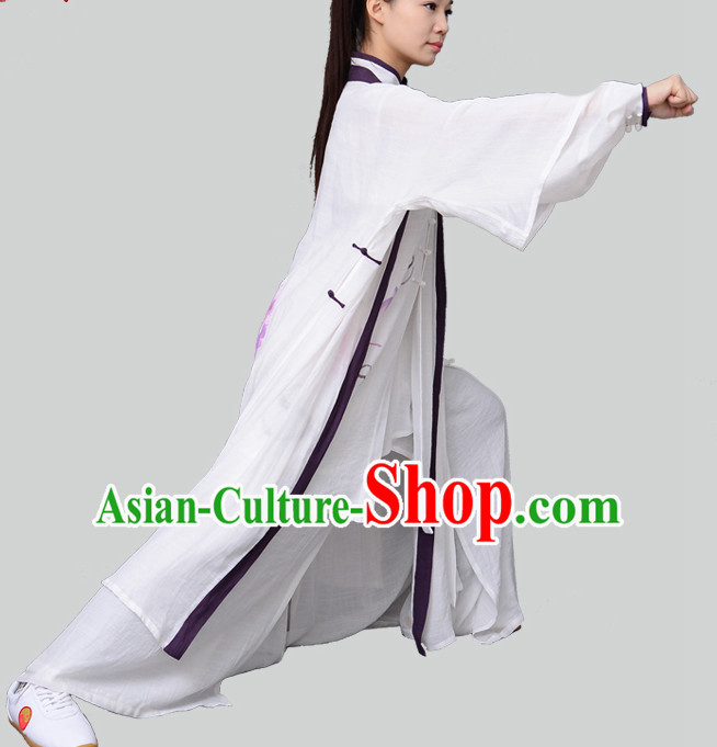 Top Chinese Traditional Competition Championship Tai Chi Taiji Teacher Clothes Suits Uniforms