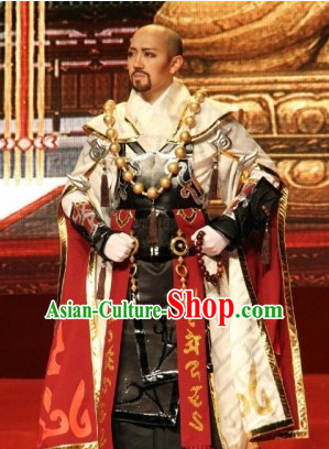 Chinese Costume Superhero Monk Cosplay Costumes China Traditional Armors Complete Set for Men Kids Adults
