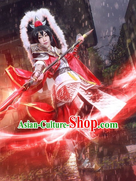 Chinese Costume Superhero Armor Cosplay Costumes China Traditional Armors Complete Set for Men Women Kids Adults