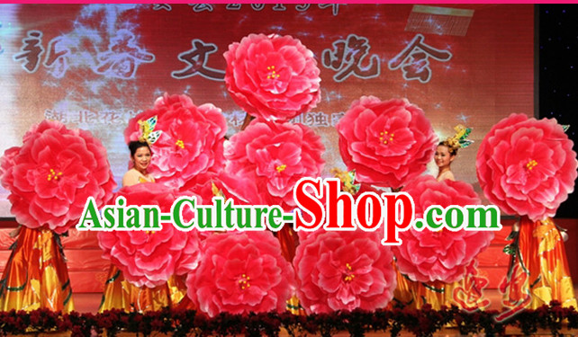 Traditional Dance Peony Umbrella Props Flower Umbrellas Dancing Prop Decorations for Women Adults