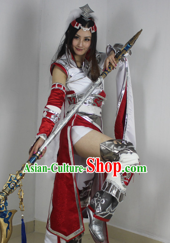 Chinese Costume Superheroine Armor Cosplay Costumes China Traditional Armors Complete Set for Men Women Kids Adults