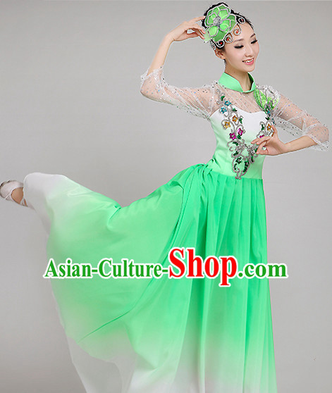 Chinese Dance costume Dance Classes Uniforms Folk Dance Traditional Cultural Dance Costumes Complete Set