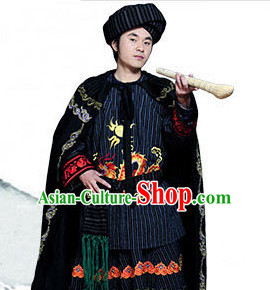 Chinese Folk Dance Ethnic Wear China Clothing Costume Ethnic Dresses Cultural Dances Costumes Complete Set for Men