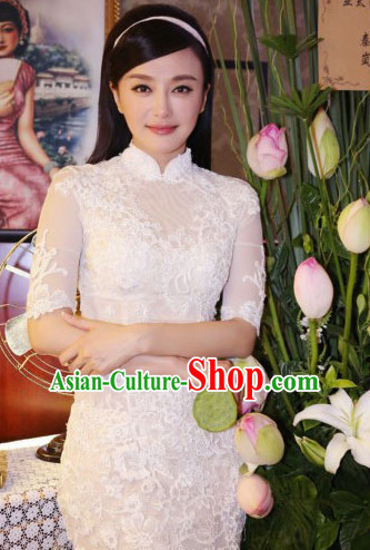 Top Tailored Romantic Mandarin Collar Short Cheongsam Chi-pao