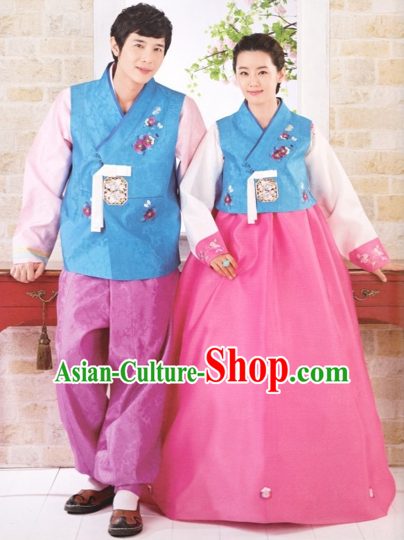 South Korean Style Asian Clothing Traditional Korean Dress Traditional National Costumes Clothes for Women and Men