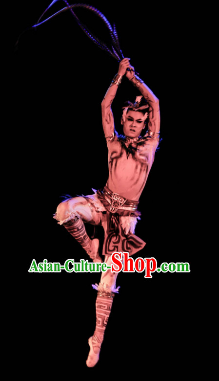 Chinese Classical Dancing Dance Costumes Complete Set for Men
