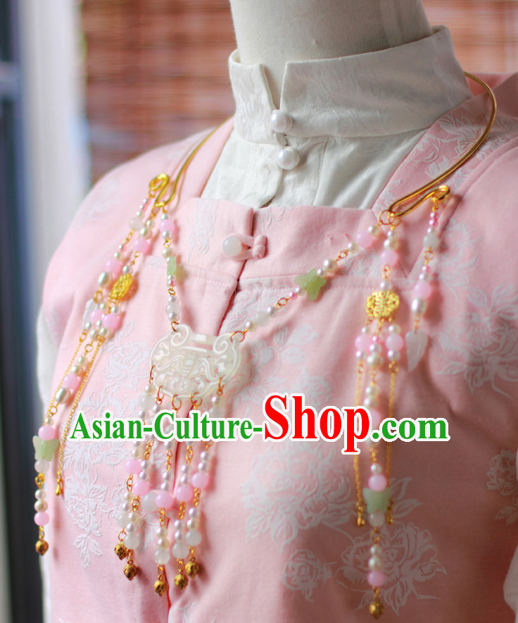 Traditional Chinese Ming Dynasty Hanfu Necklace for Ladies
